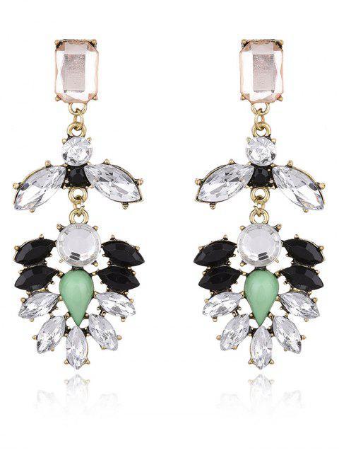 online Faux Gem Water Drop Drop Earrings - WHITE  Mobile