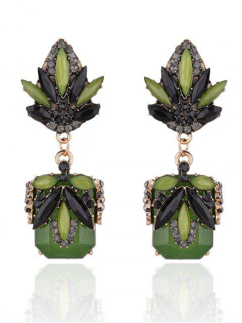 new Fake Jade Rhinestone Drop Earrings -   Mobile
