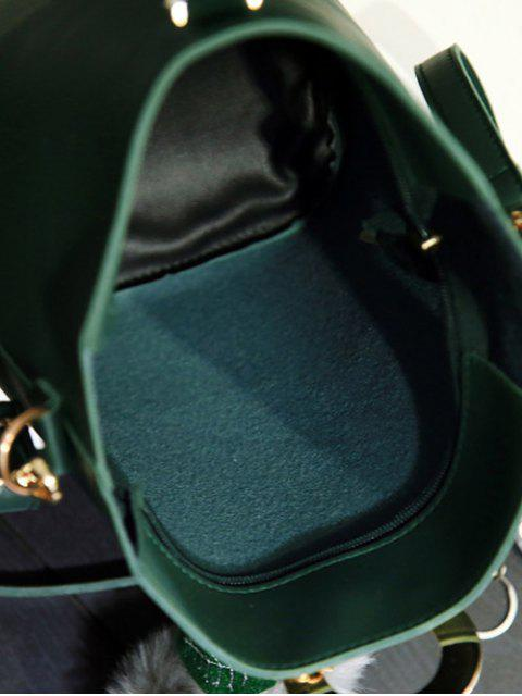 buy Pompon Metal Ring Crossbody Bag -   Mobile