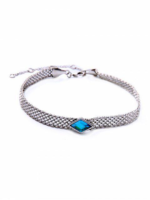 affordable Faux Gemstone Geometric Vintage Necklace -   Mobile