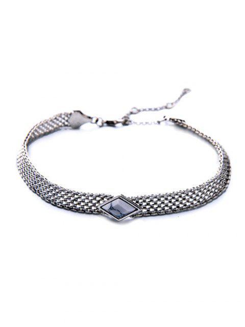 buy Faux Gemstone Geometric Vintage Necklace -   Mobile