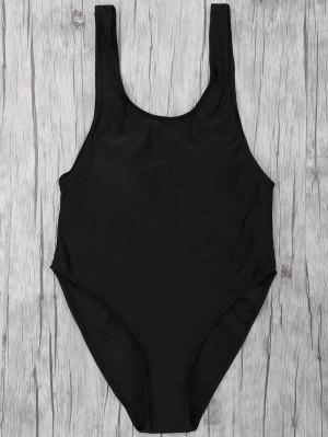 Bañador En Una Pieza Con Espalda Descubierta - Negro L