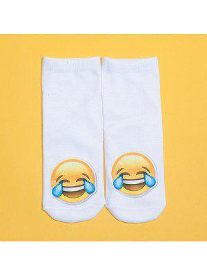 3D-weinendes Gesicht Printed Emoji Socken