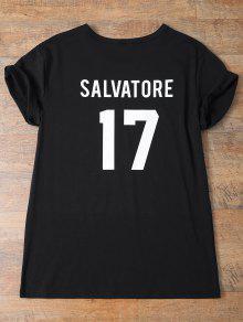 Jewel Neck Salvatore 17 T-Shirt - Black L