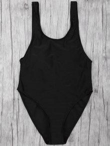 One Piece Backless Swimsuit - Black M