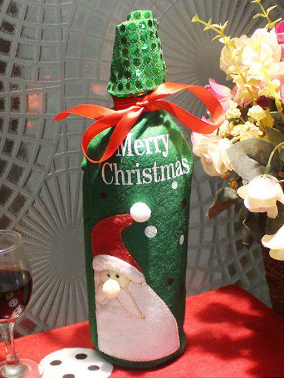 new Christmas Santa Claus Wine Bottle Cover Bag - GREEN