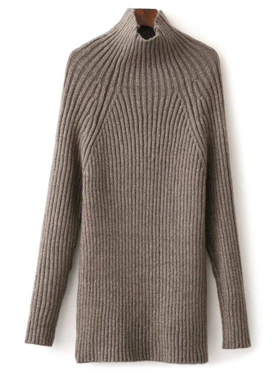 Tight Raglan Sleeve Ribbed Sweater KHAKI: Sweaters ONE SIZE | ZAFUL