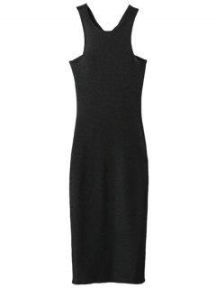 Glitter Midi Pencil Dress - Black S