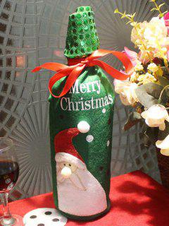 Christmas Santa Claus Wine Bottle Cover Bag - Green