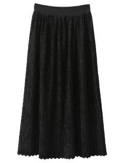 Maxi Pleated Skirt - Black