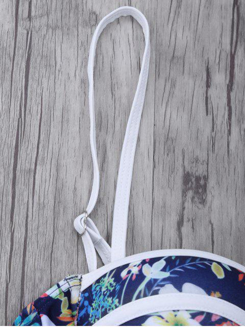 lady Push Up Floral Swimsuit Slip - COLORMIX L Mobile