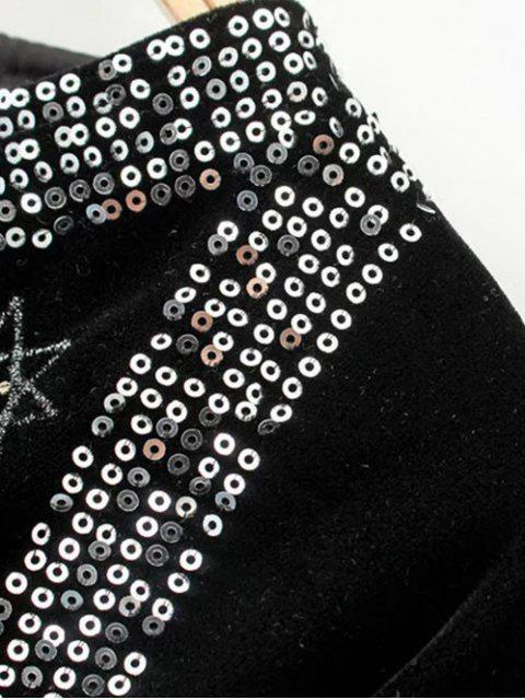 outfits Tasselled Tie Up Velvet Wrap Jacket - BLACK S Mobile