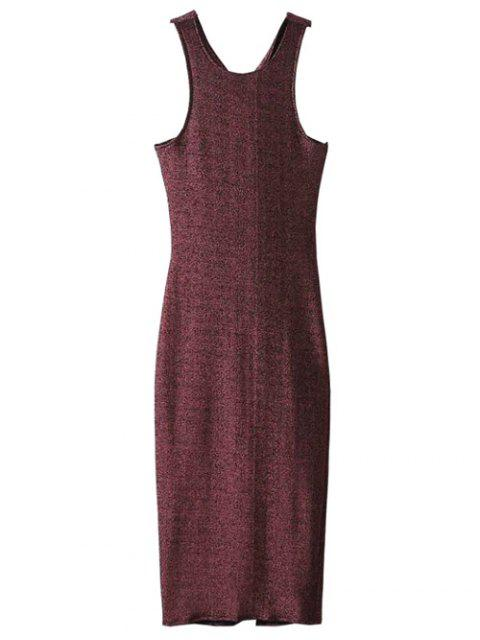 shop Glitter Midi Pencil Dress - CLARET S Mobile