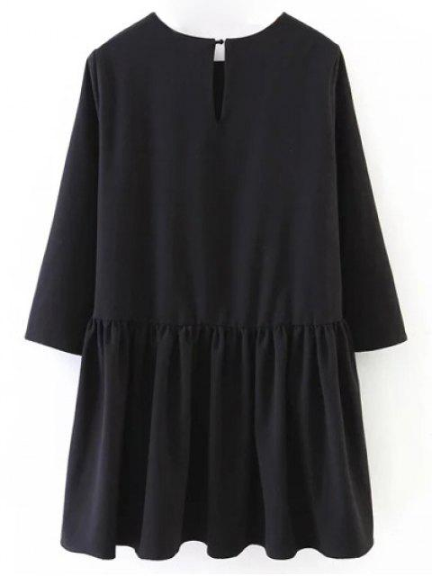 buy Flounce Ruffles Oversized Blouse - BLACK M Mobile