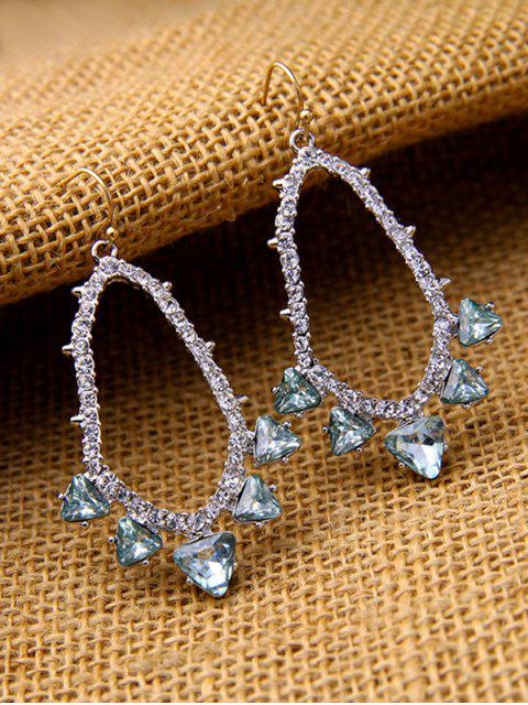 chic Rhinestoned Artificial Gem Earrings - SILVER  Mobile