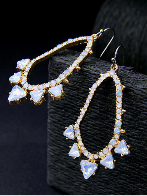fancy Rhinestoned Artificial Gem Earrings -   Mobile