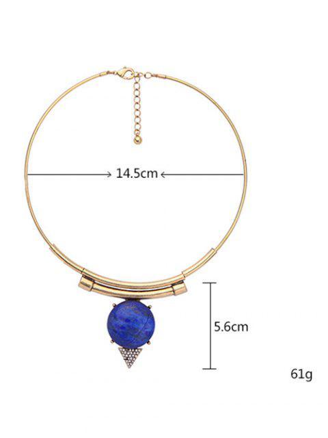 hot Triangle Vintage Rhinestone Necklace - GOLDEN  Mobile