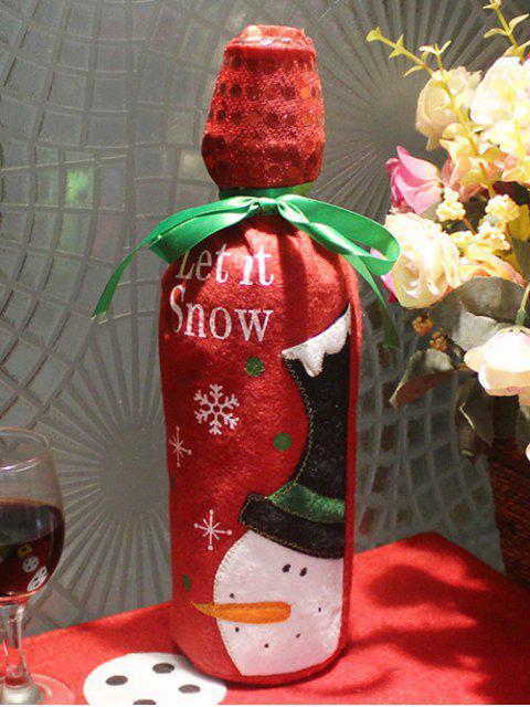 hot Merry Christmas Snowman Wine Bottle Cover Bag -   Mobile