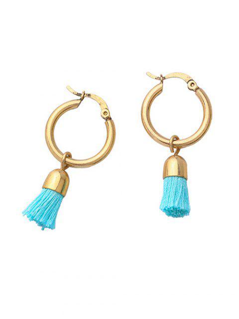 sale Vintage Tassel Circle Drop Earrings -   Mobile