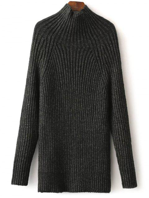 outfits Tight Raglan Sleeve Ribbed Sweater - BLACKISH GREEN ONE SIZE Mobile