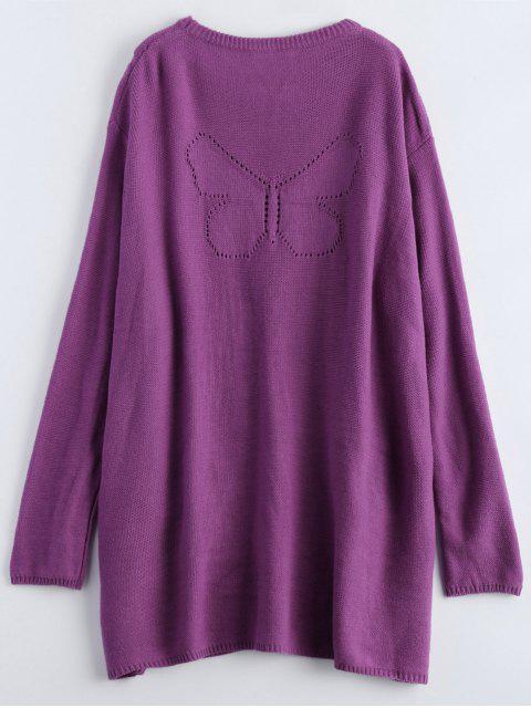 robe avec celle poches surdimensionnées - Pourpre TAILLE MOYENNE Mobile