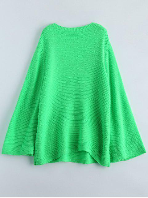 unique Fluorescent Kimono Sleeve Sweater - NEON GREEN ONE SIZE Mobile