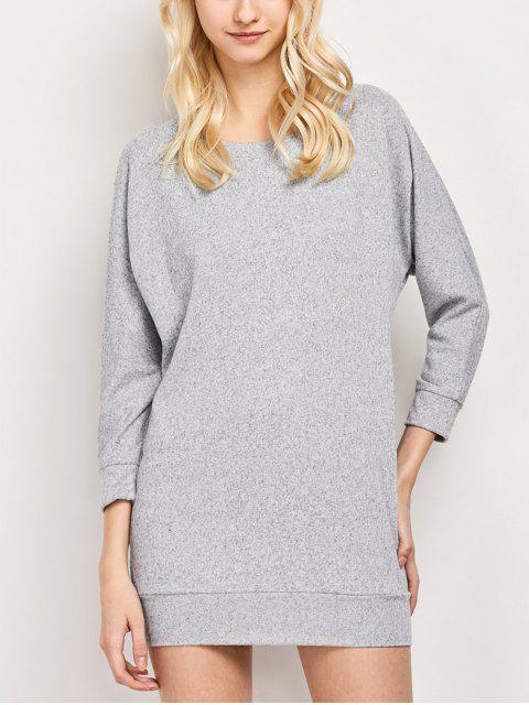 best Dolman Sleeve Round Collar Sweatshirt - GRAY 2XL Mobile