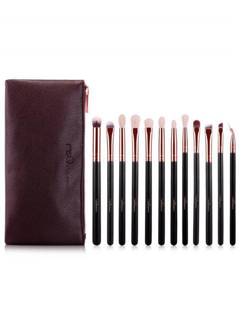Kit de pinceaux de maquillage des yeux en fibre - Or Rose  Mobile
