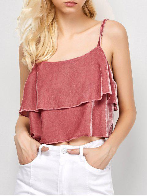 women Ruffles Velvet Cami Top - PAPAYA 2XL Mobile