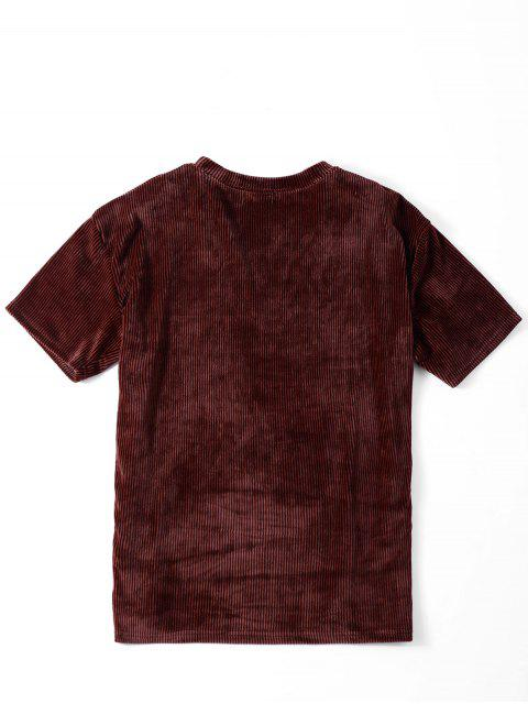 womens Oversized Corduroy T-Shirt - COLORMIX ONE SIZE Mobile