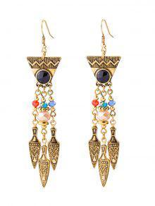 Buy Geometric Faux Gem Drop Earrings GOLDEN
