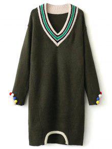 Buy Fuzzy Cricket Sweater Dress - ARMY GREEN ONE SIZE