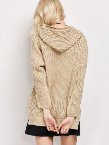 High Low Hooded Tunic Sweater PALOMINO: Sweaters ONE SIZE | ZAFUL