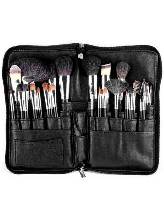 outfits Animal Hair Makeup Brushes Kit - BLACK