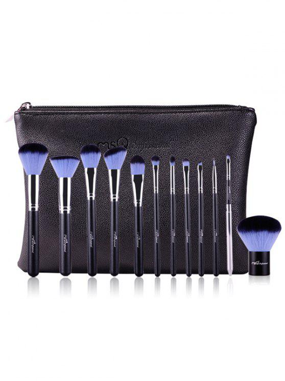 unique 12 Pcs Makeup Brushes Kit - BLUE