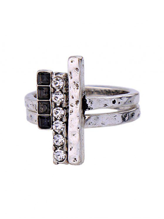 new Rhinestone Vintage Ring Set - SILVER ONE-SIZE