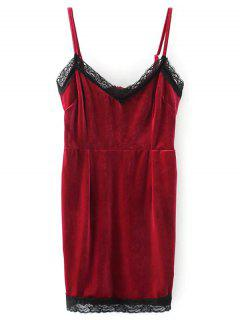 Strappy Velvet Mini Robe Moulante - Rouge S