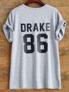 Drake 86 Graphic Tee - Gray S