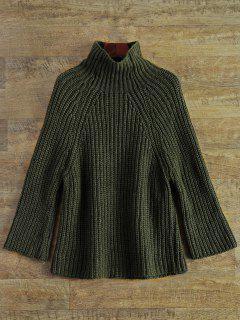 Sweater Raglan épais à Col En Entonnoir - Vert Armée