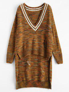 High Low Heather Sweater - Earthy