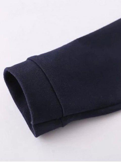 buy Floral Applique Pullover Sweatshirt - BLACK M Mobile