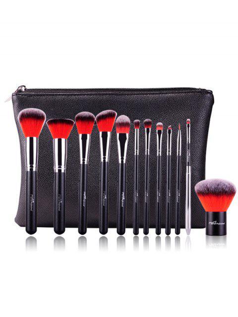 fancy 12 Pcs Makeup Brushes Kit - RED  Mobile