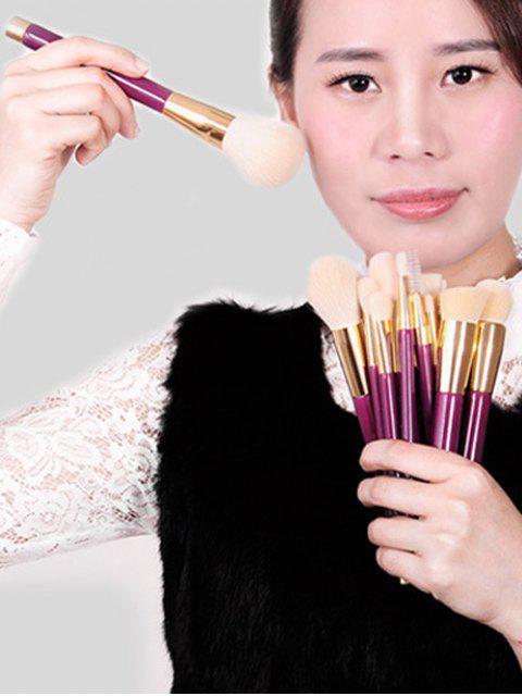 affordable Goat Hair Makeup Brushes Kit - PURPLE  Mobile