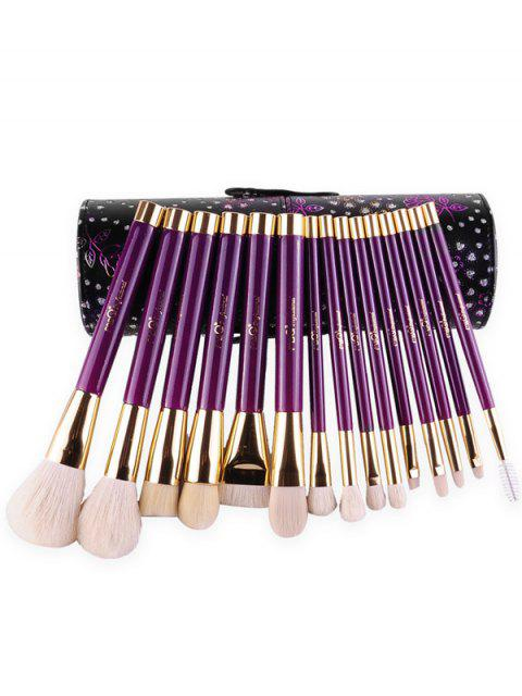affordable Goat Hair Makeup Brushes Kit - PURPLE  Mobile