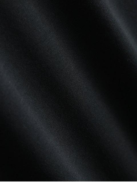 sale Short Sleeve Herbiuone Boyfriend T-Shirt - BLACK 2XL Mobile