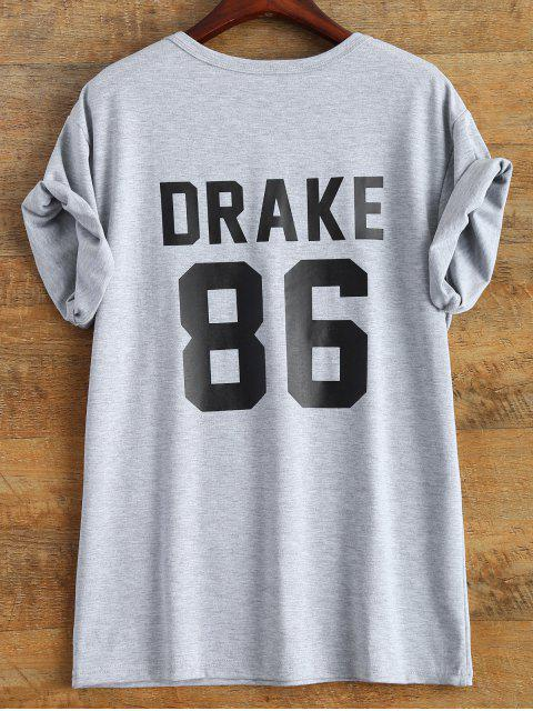 T-shirt imprimé graphique <Drake 86> - gris S Mobile