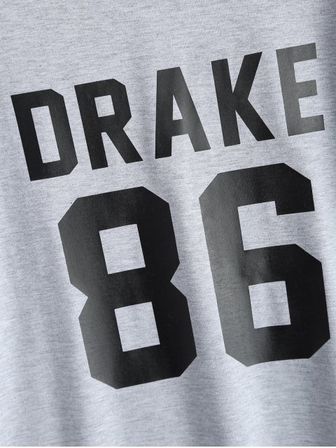 women's Drake 86 Graphic Tee - GRAY S Mobile