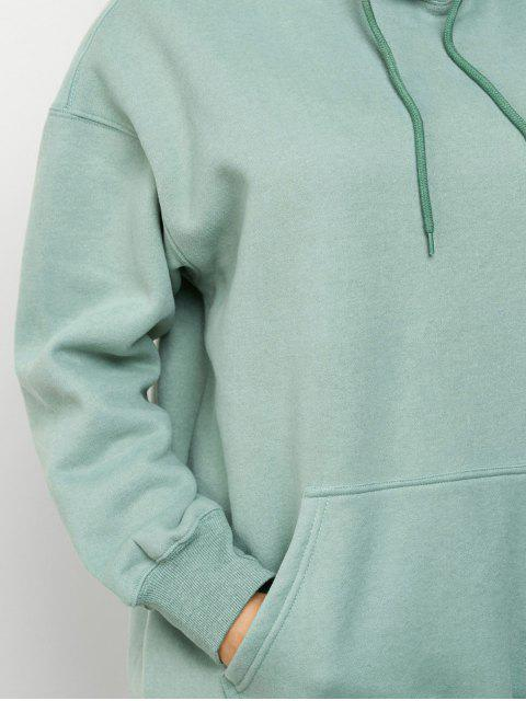 buy Kangaroo Pocket Fleece Lined Hoodie - LIGHT GREEN S Mobile