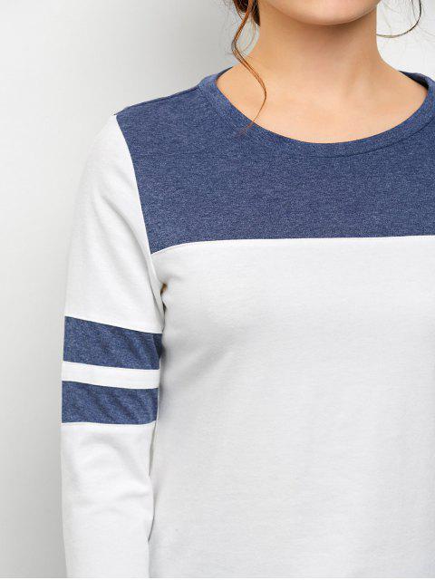 unique Color Block Space Dyed T-Shirt - WHITE XS Mobile