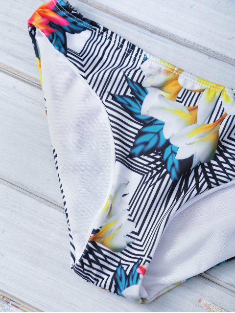 sale Printed Halter Bowknot Bikini - BLACK M Mobile